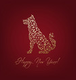 dog ornament silhouette vector image