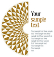 geometric round pattern vector image