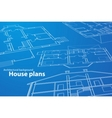 House plans vector image