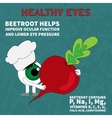 Information about the benefits of beets for vision vector image