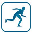 speed skating emblem vector image