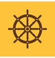 The ship steering wheel icon Sailing symbol Flat vector image