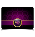 Purple vip card vector image