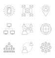 Internet connection icons set outline style vector image