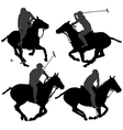 Polo Player Silhouette vector image vector image