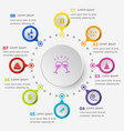 infographic template with celebration icons vector image