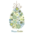 Stylized easter egg with bow vector image