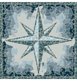 cracked colored fresco with wind-rose vector image
