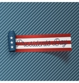 Presidents Day big realistic sctoll textile Ribbon vector image
