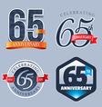 65 Years Anniversary Logo vector image