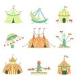 Amusement Park Elements Collection vector image