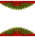 Christmas decoration on white background vector image