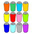 color cans collection vector image