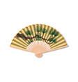 Fan for Kabuki dance Geisha accessories vector image
