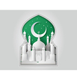 Paper Mosque vector image