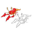 red lobster coloring book vector image