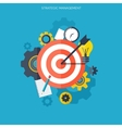 Target flat icon Development concept New ideas vector image