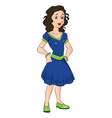 teen girl with hands on hip vector image
