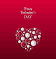 Valentine card with abstract heart made of circles vector image