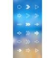 thin icons design set Arrows Moder simple vector image