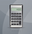 calculator on gray stylish background vector image