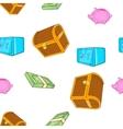Cash pattern cartoon style vector image