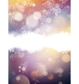 Bright new year and cristmas card template EPS 10 vector image