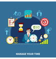Keeping On Time Composition vector image
