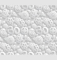 paper 3d om seamless pattern vector image