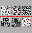 set of seamless pattern with brush stripes vector image