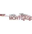 best mortgage deal uk put your best foot forward vector image