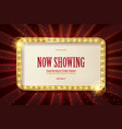 bright red marquee with light bulbs vector image