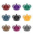 crown icon in black style isolated on white vector image