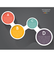 Colorful modern business circles vector image