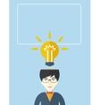 Businessman has a bright idea vector image