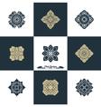 Design Luxury Template Set Swash Elements Art Vint vector image