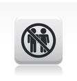 couple banned icon vector image