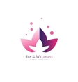 Spa wellness lotus flower logo icon vector image