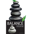 Balanced Zen stones vector image vector image