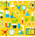 Yellow Seamless Pattern Science Education vector image