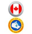 button as a symbol of Canada vector image