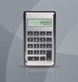 calculator on gray stylish background vector image