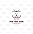 cartoon style pet shop logo Hand drawn vector image