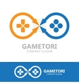 Game controller logo template vector image