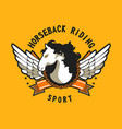 horse sport sign vector image