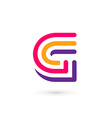 Letter G logo icon design template elements vector image