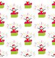 penguin in gift box pattern vector image