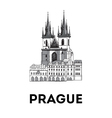 The sketch of Old town square in Prague vector image