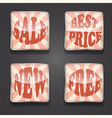 4 shiny sale icons vector image