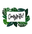 congrats hand written lettering vector image